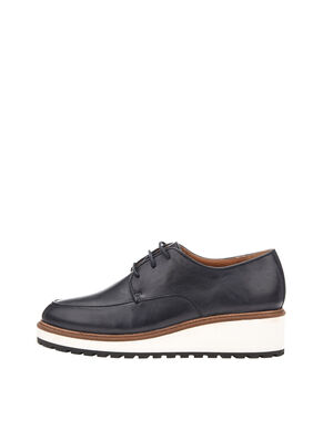 INN. WEDGE LACED UP DERBY SHOES