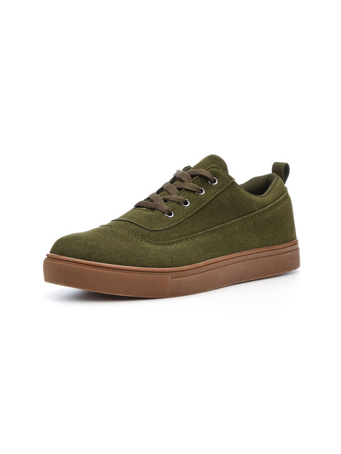 MEN'S LACED UP CASUAL SHOES, Army Green, large