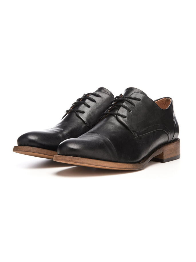 DRESS DERBY SHOES, Black, large