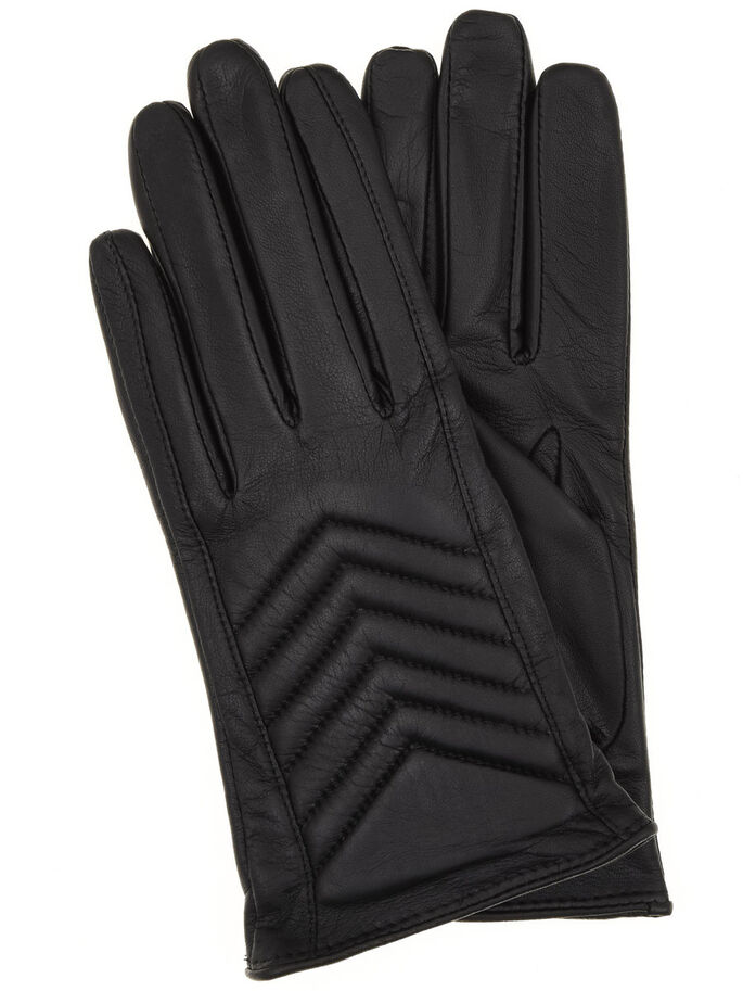 W/PADDING GLOVES, Black, large
