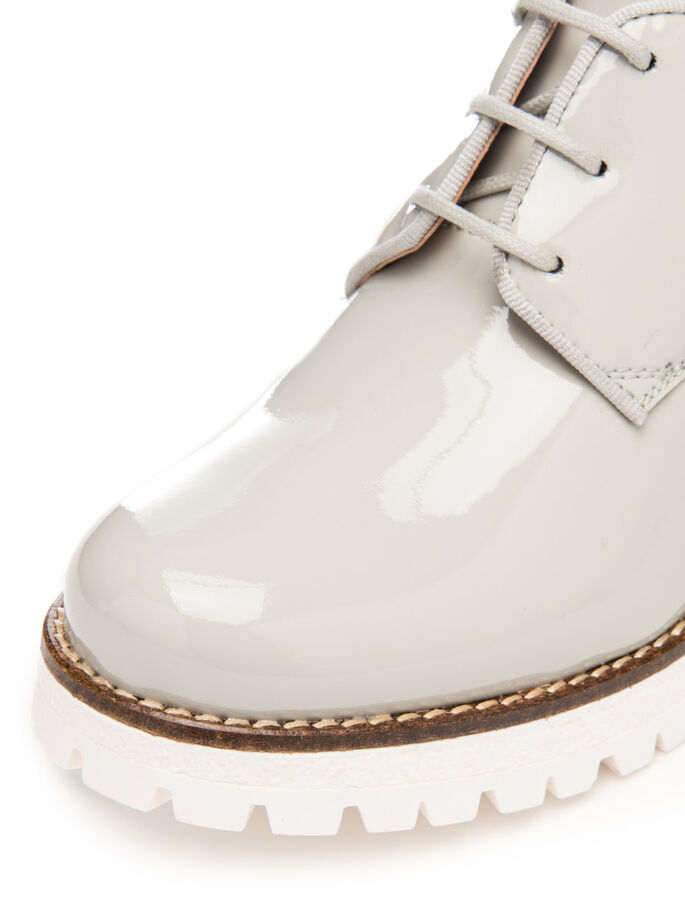 PATENT LACED UP BOOTS, Grey, large