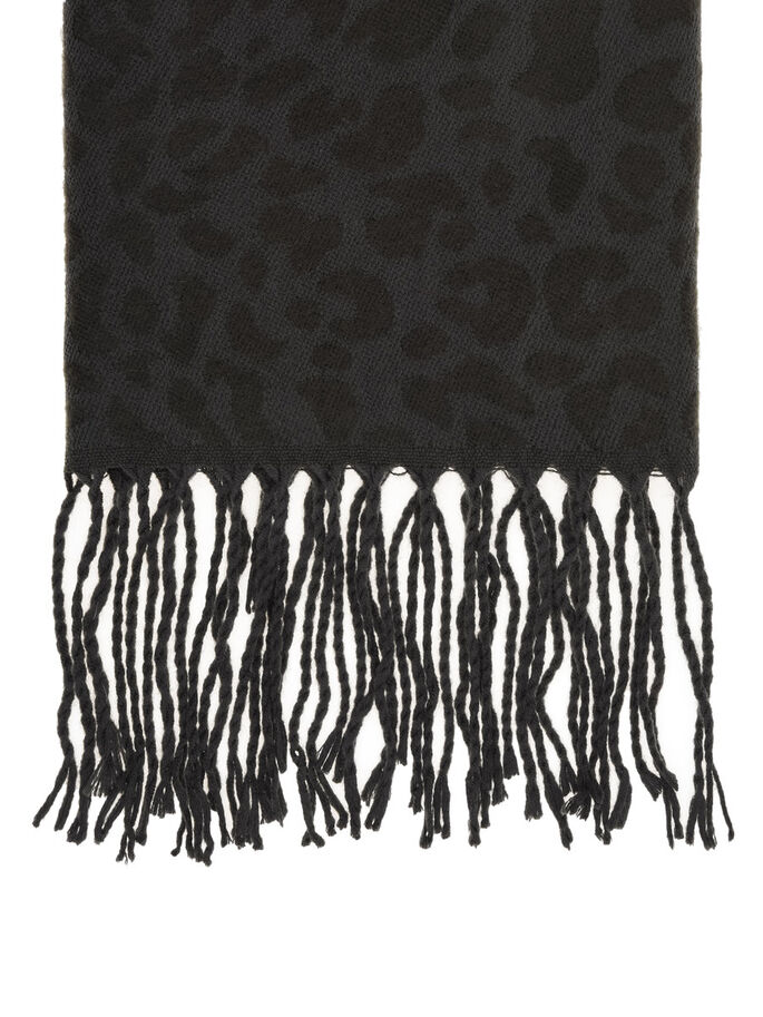 LEO FRINGE SCARF, Grey, large