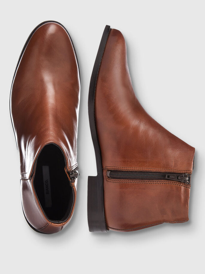 LOW CUT BOOTS, Light Brown, large