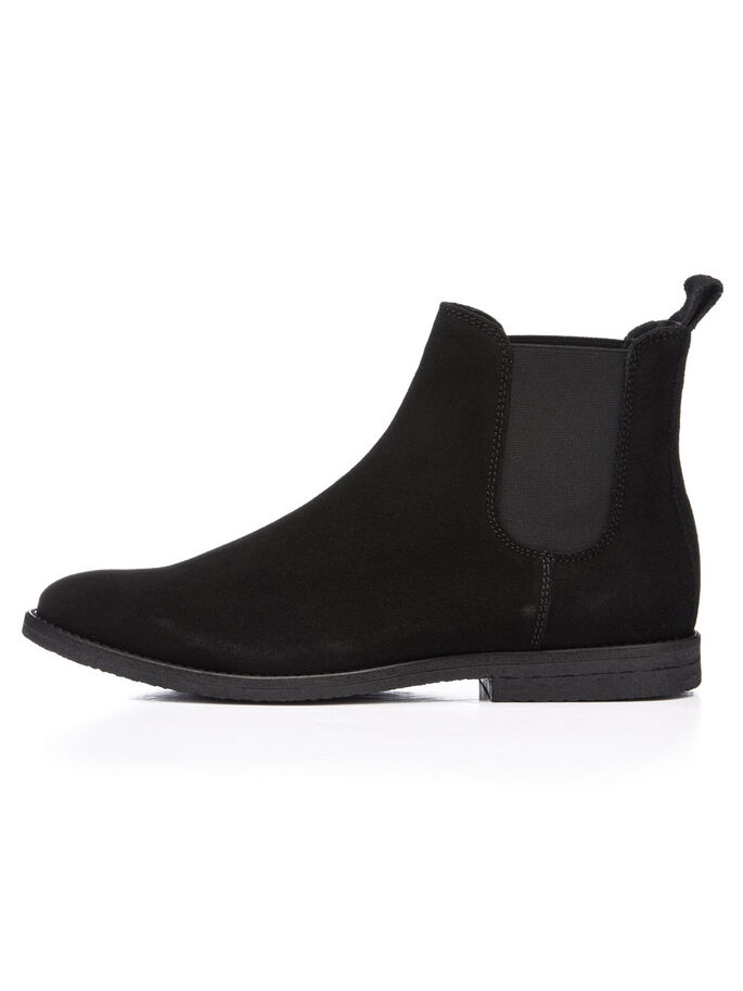 CASUAL SUEDE CHELSEA BOOTS, Black 2, large