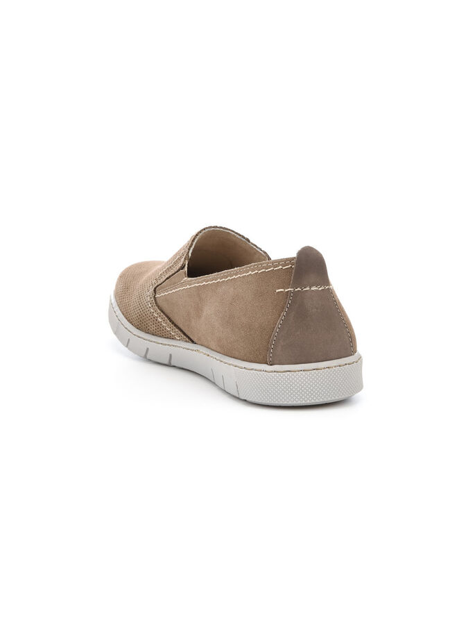 SUEDE FLEX LOAFERS, Sand, large