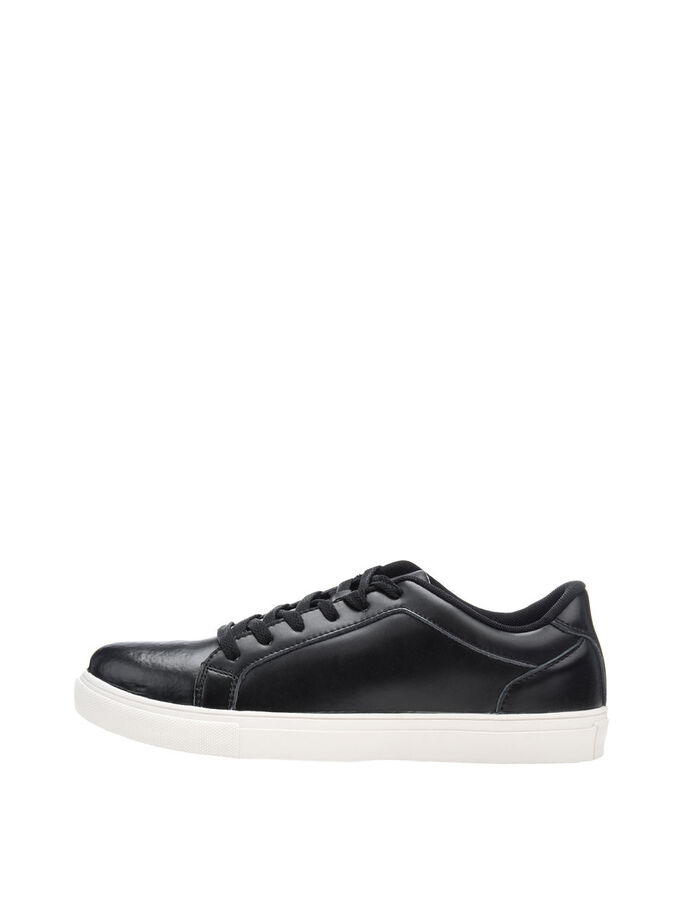 LEATHER SNEAKERS, Black, large