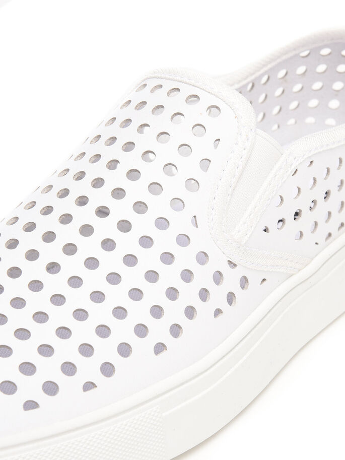 PUNCHED LOAFERS, White, large