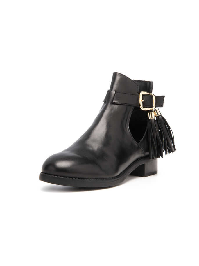 OPEN TASSEL BOOTS, Black, large