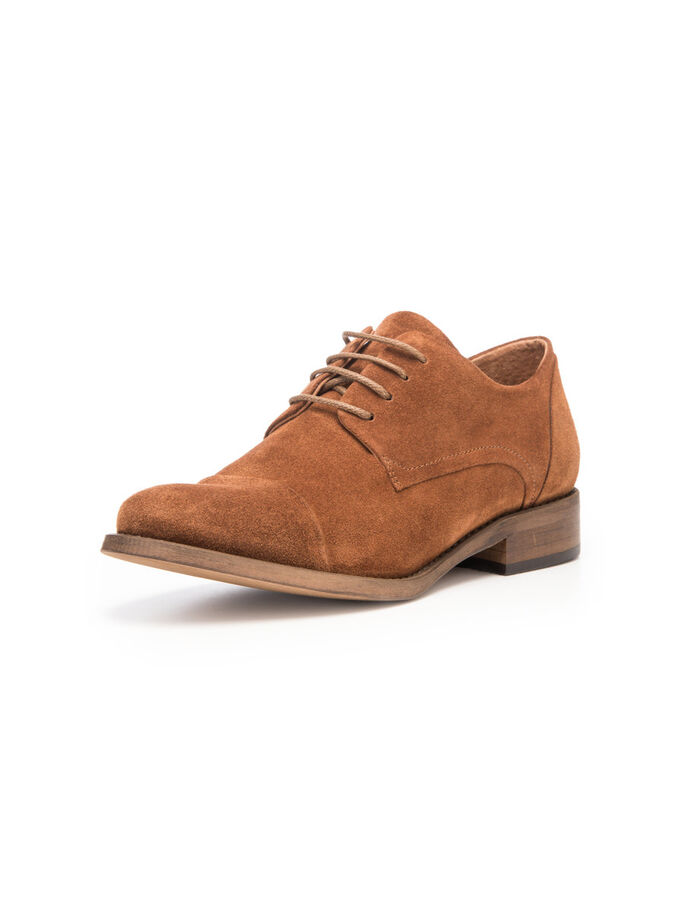 DRESS DERBY SHOES, Light Brown, large
