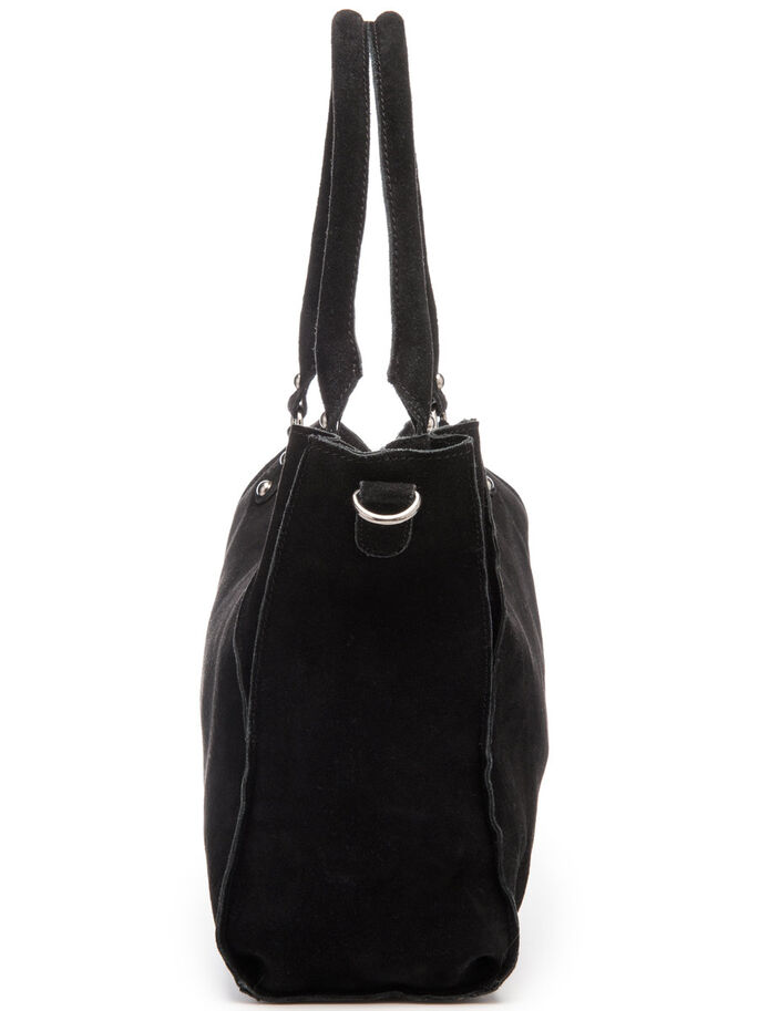 SUEDE BAG, Black, large