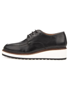 WEDGE LACED UP DERBY SHOES