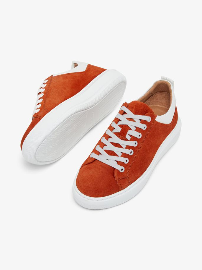 BIADAVA LEATHER SNEAKERS, Rust1, large