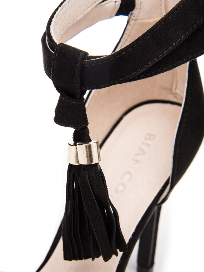 TASSEL STILETTO, Black, large