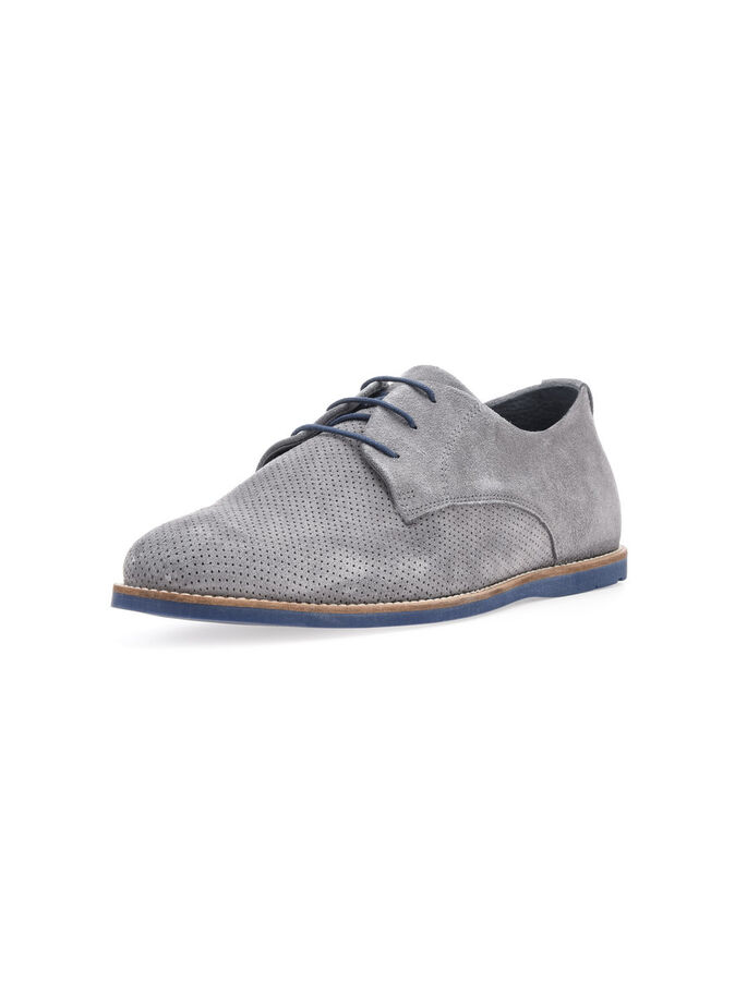 MEN'S SPRING SUEDE SHOES, Grey, large