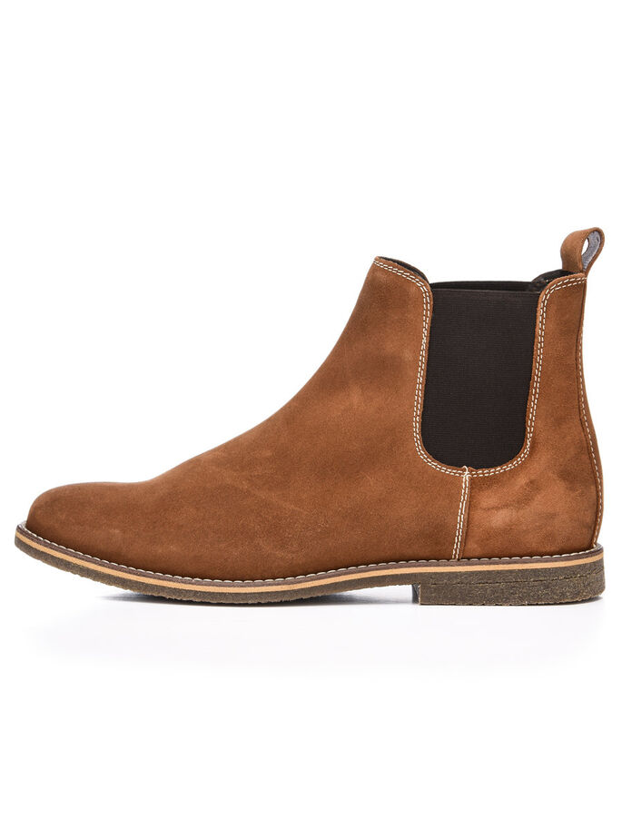 MEN'S SUEDE CHELSEA BOOTS, Light Brown, large