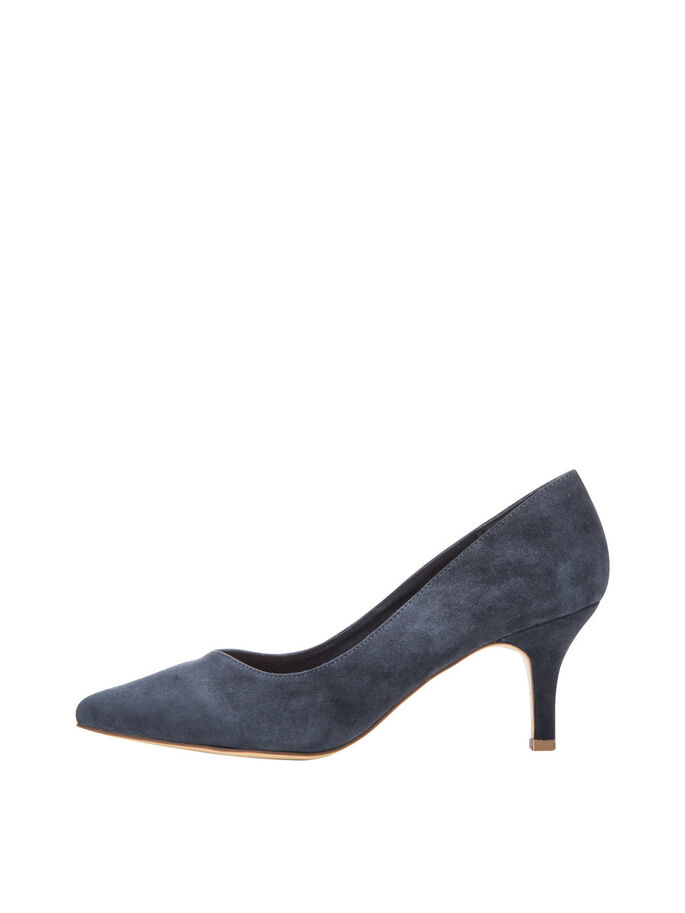 V-FRONT PUMPS, Navy Blue, large