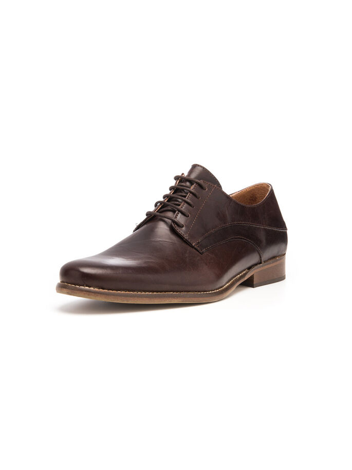 MEN'S CONSIOUS DRESS DERBY SHOES, Dark Brown, large