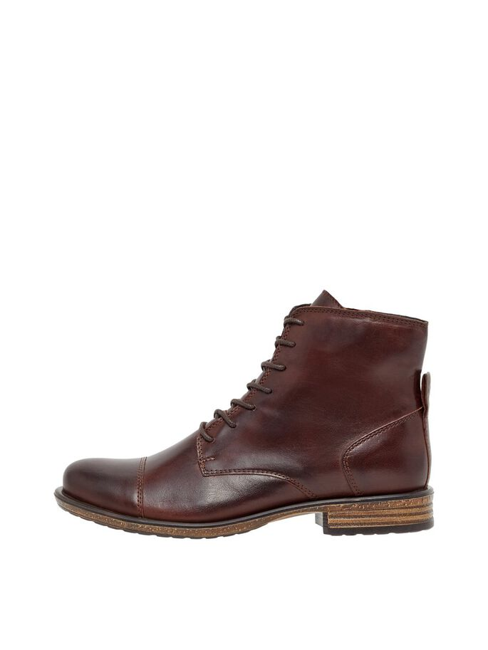 BIADANELLE LEATHER BOOTS, DarkBrown, large