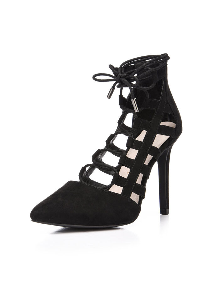 LACED UP PARTY PUMPS, Black, large