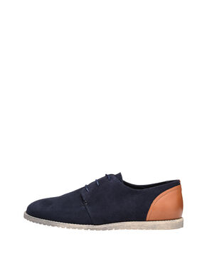 LACED SUEDE DERBY SHOES