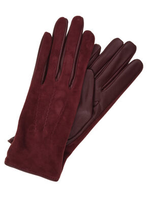 LEATHER SUEDE GLOVES