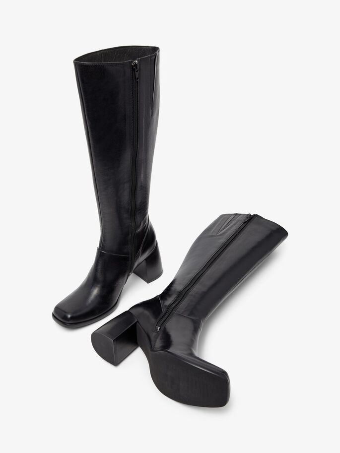 BIADAY LONG BOOTS, Black, large