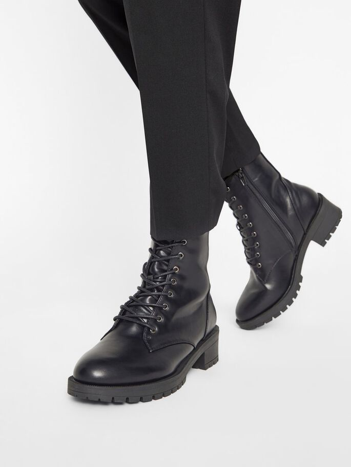BIACLAIRE LACED-UP WIDE FIT BOOTS, Black, large