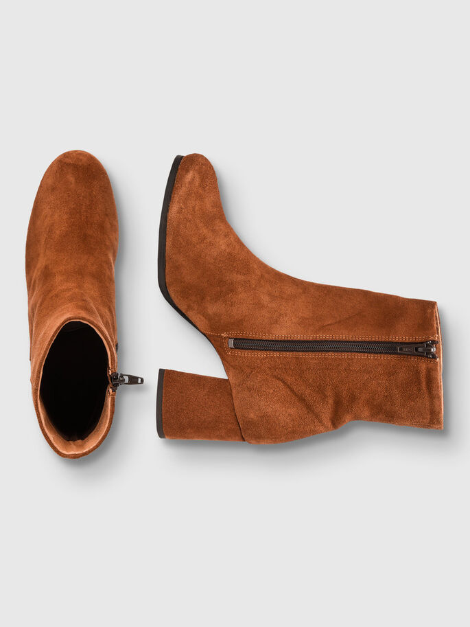 FULL SUEDE BOOTS, Light Brown, large