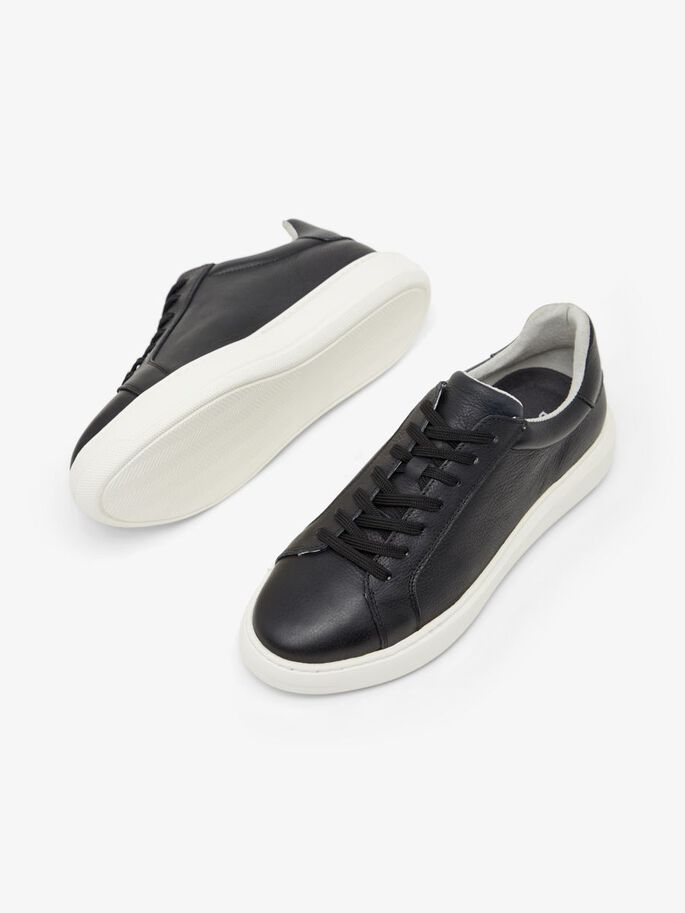 BIAKING LEATHER SNEAKERS, Black6, large