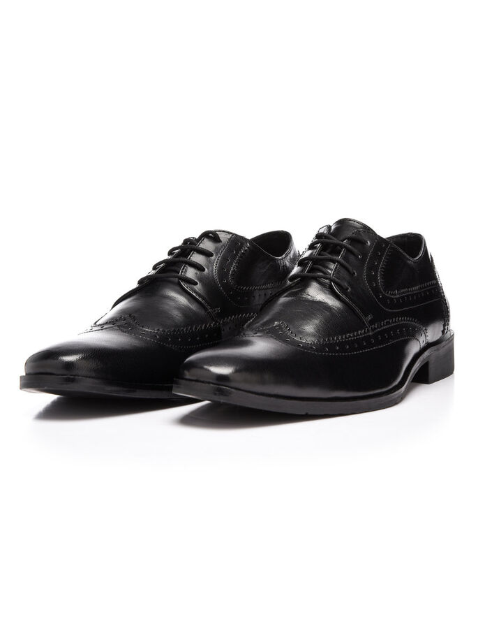 MEN'S DERBY SHOES, Black, large
