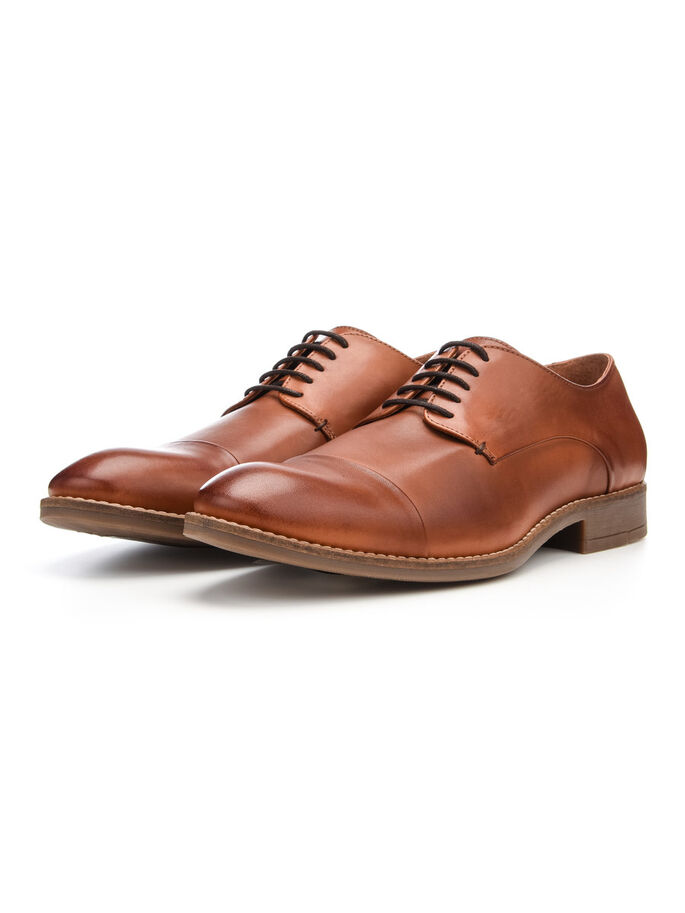 MEN'S CLASSIC DERBY SHOES, Light Brown, large
