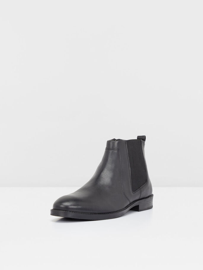 EFFECT CHELSEA BOOTS, Black, large