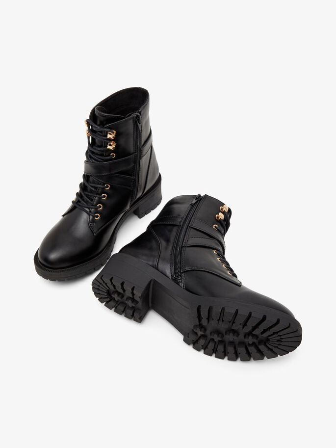 BIADELYN BUCKLE BOOTS, Black, large