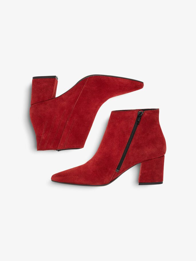 SIDE ZIP ANKLE BOOTS, Winered1, large