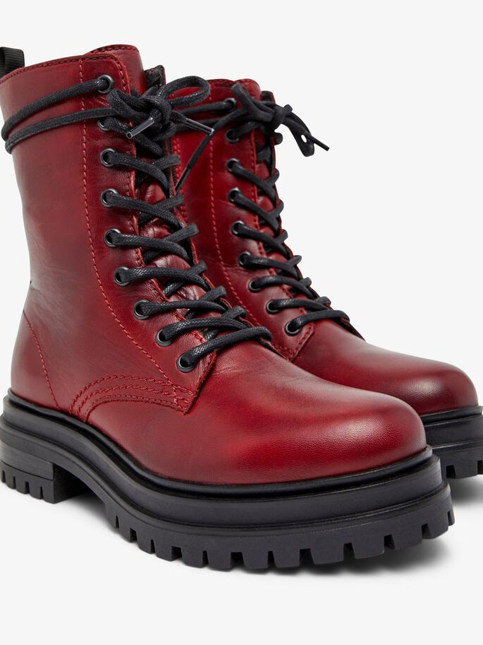 BIADARLENE LACE-UP BOOTS, Winered, large