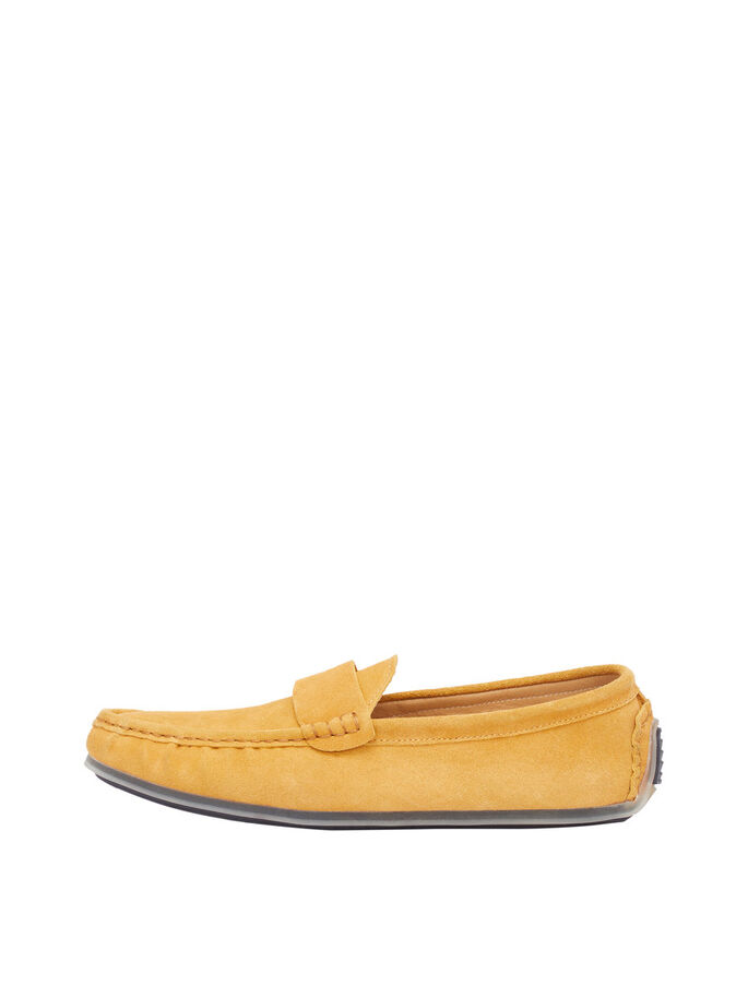 MEN'S SUEDE LOAFERS, Mustard, large