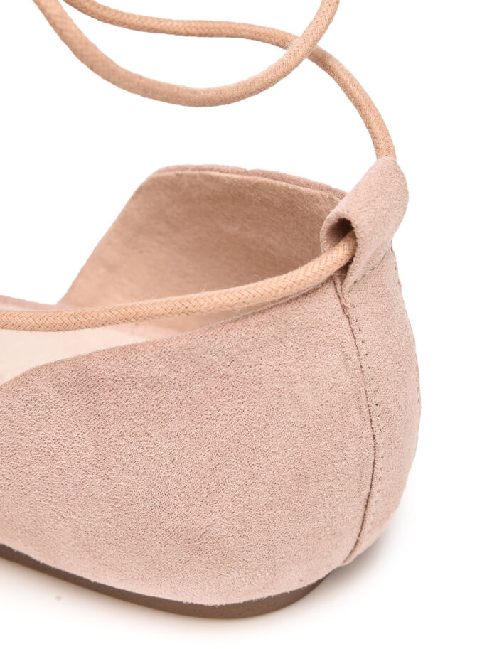 OPEN LACE BALLERINAS, Natural, large