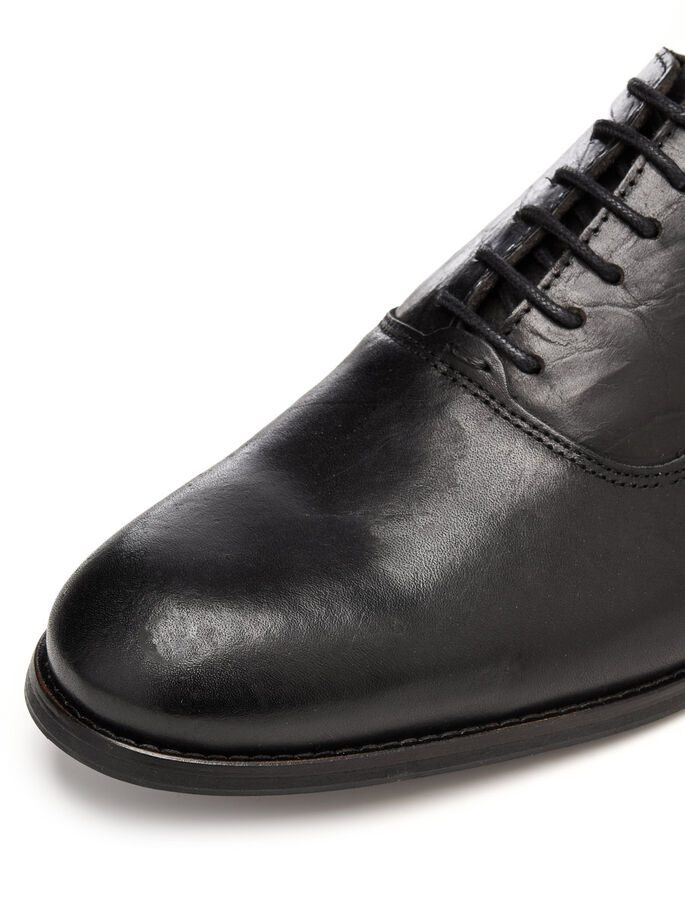 MEN'S DRESS OXFORD DERBY SHOES, Black, large