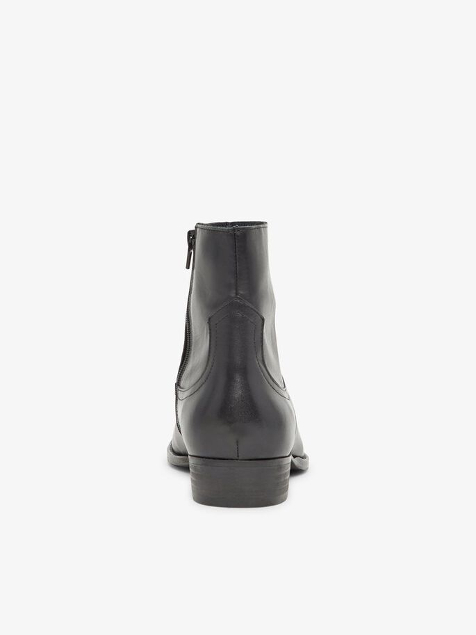 BIABECK LEATHER BOOTS, Black, large