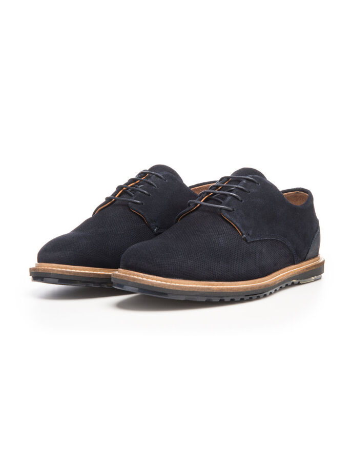 MEN'S WAVE DERBY SHOES, Navy Blue, large