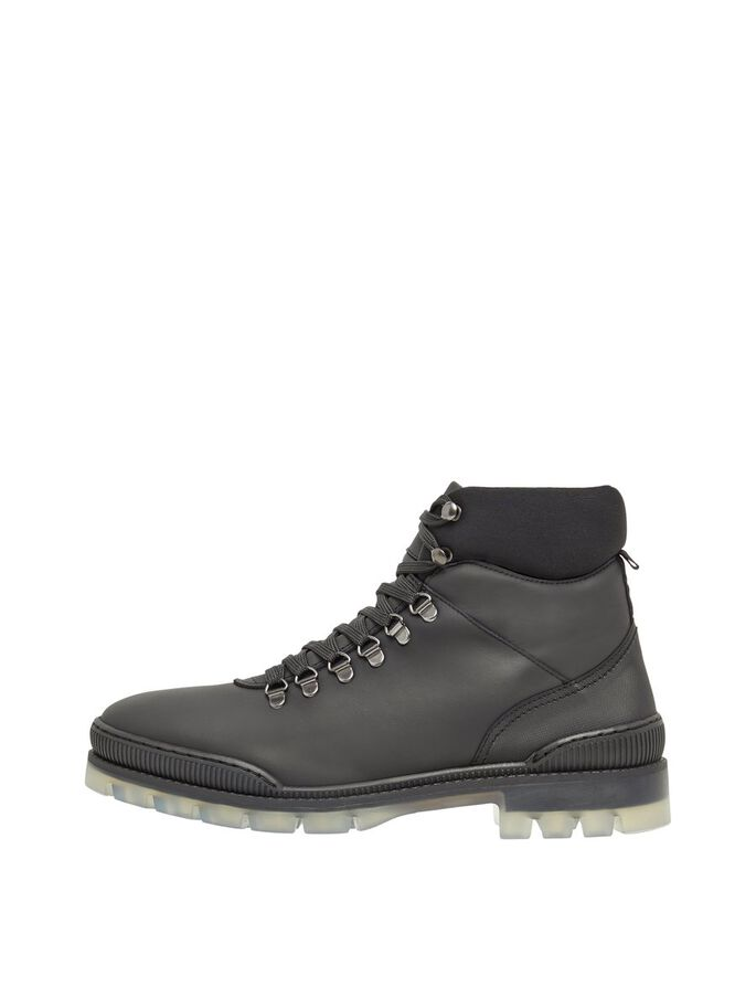 BIACARY LEATHER BOOTS, Black, large