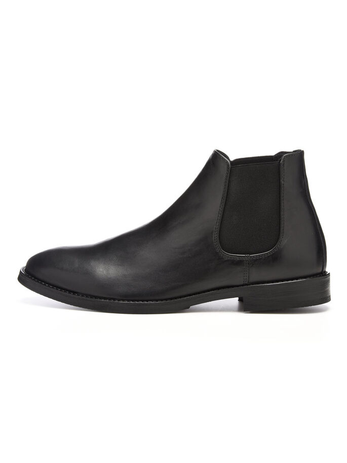MEN'S RAW CHELSEA BOOTS, Black, large