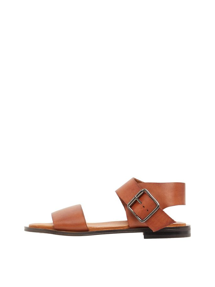 BIADARLA LEATHER SANDALS, Cognac, large