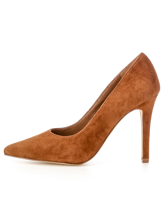 SUEDE BASIC PUMPS, Light Brown, large