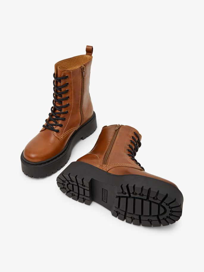 BIADEB LACE-UP BOOTS, Cognac, large