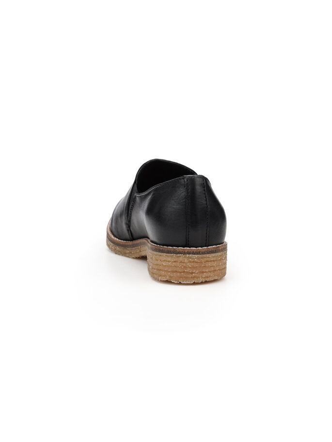 CASUAL POINTY LOAFERS, Black, large