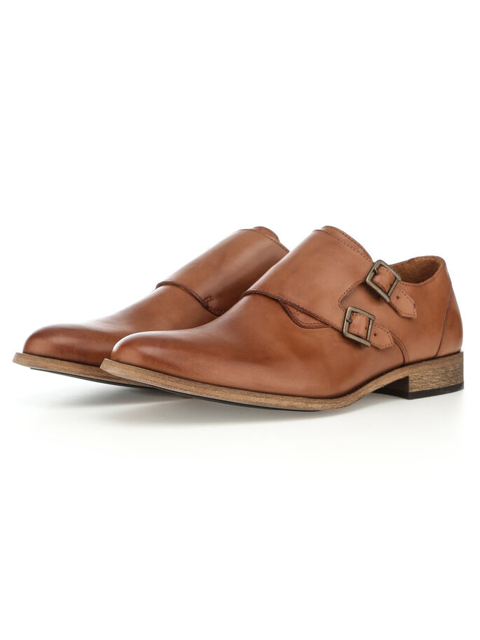 DOPPELMONK- SCHUHE, Light Brown, large