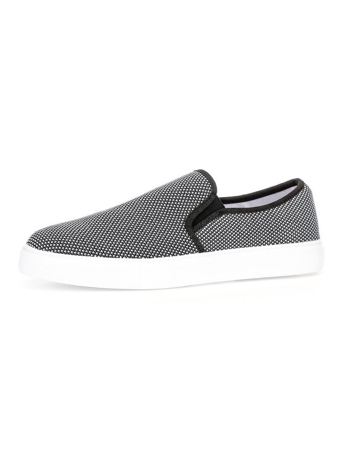 MEN'S TEXTILE SLIP-ONS, Black 2, large