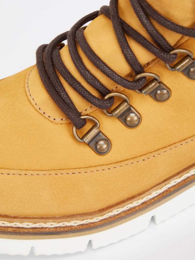 CLEATED WARM BOOTS, Mustard, large