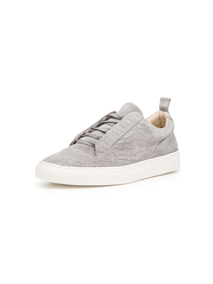 HEREN GEBOSSELEERDE SNEAKERS, Grey, large
